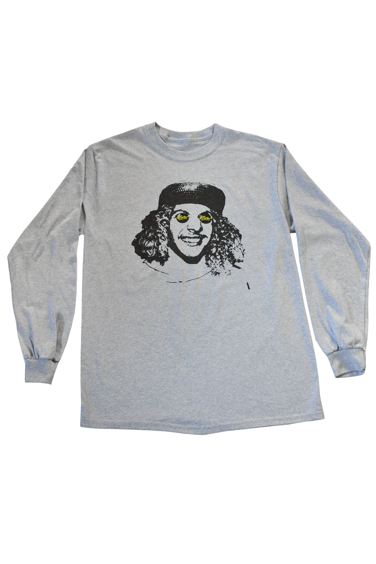 ALVA BUTTON EYES LONG SLEEVE - GREY