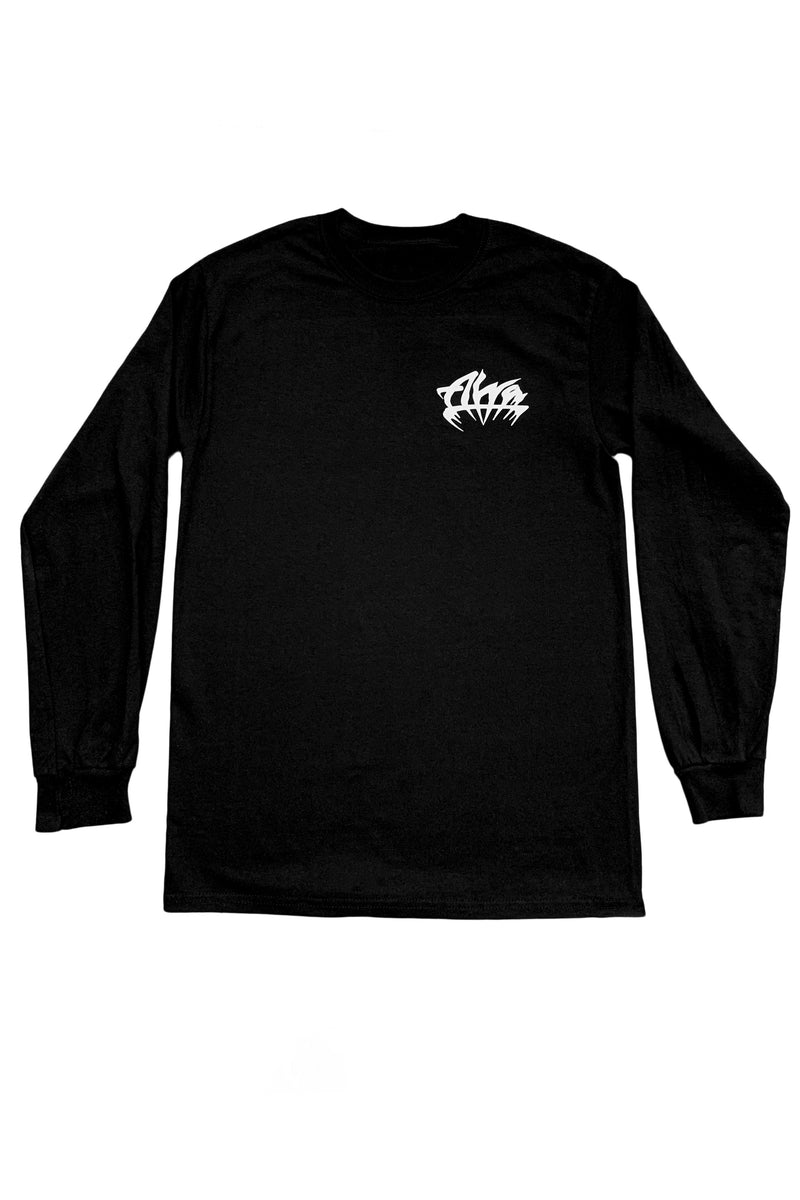 ALVA BLACK GOTH LOGO LONG SLEEVE