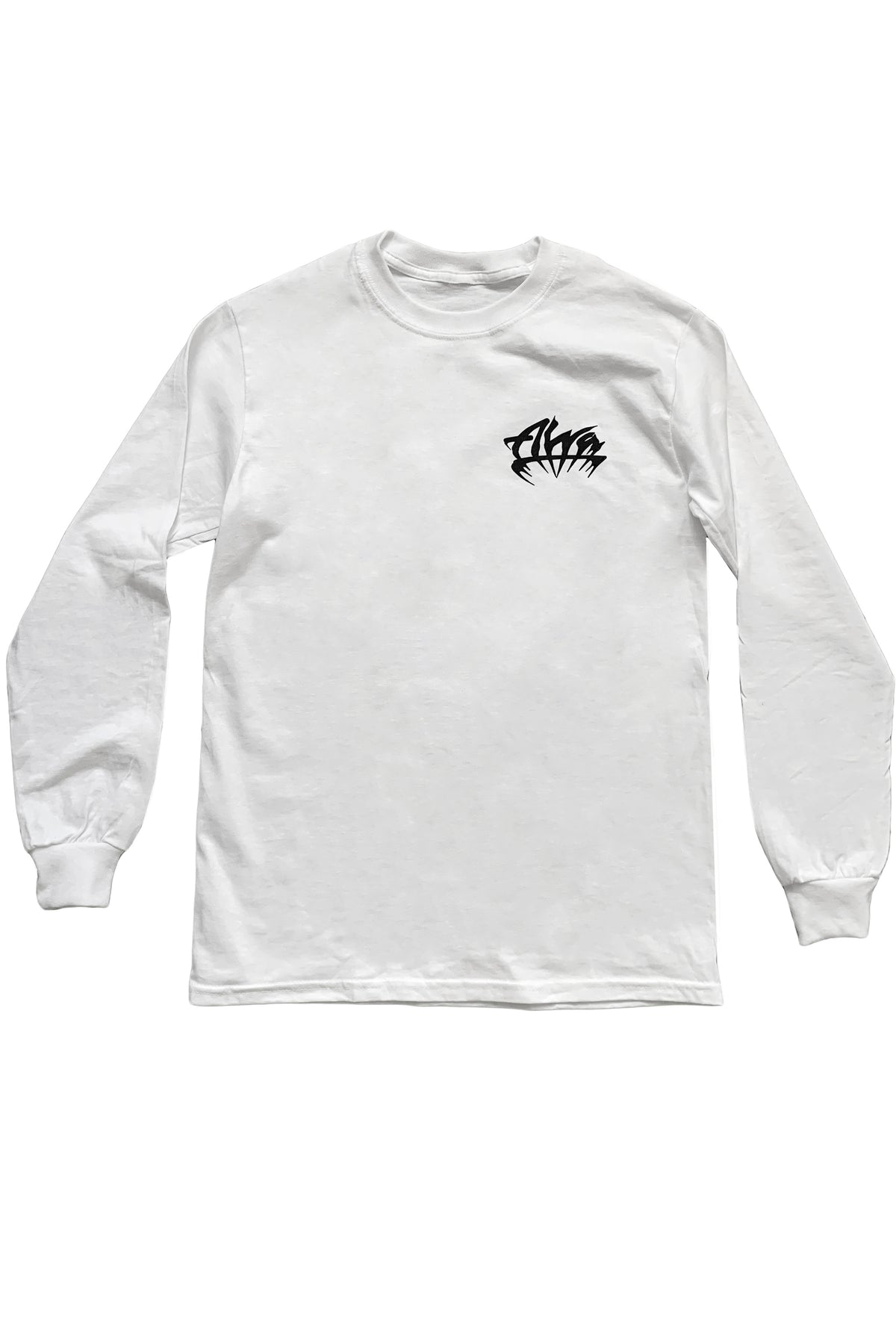 ALVA WHITE GOTH LOGO LONG SLEEVE
