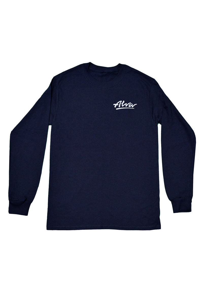 ALVA NAVY LOWKEY LOGO LONG SLEEVE