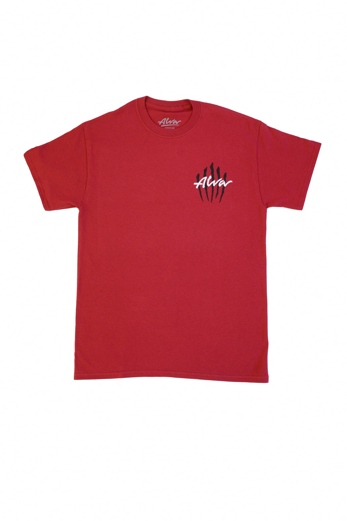 ALVA RED SCRATCH LOGO T-SHIRT