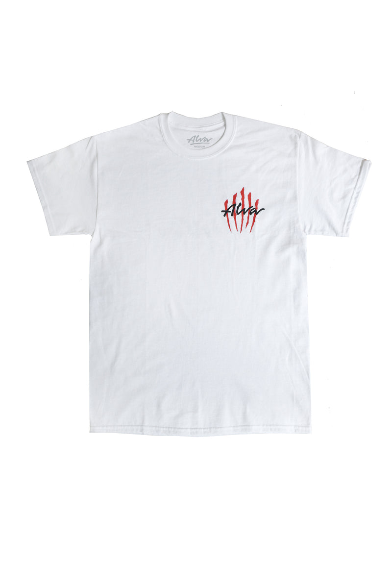 ALVA WHITE SCRATCH LOGO T-SHIRT