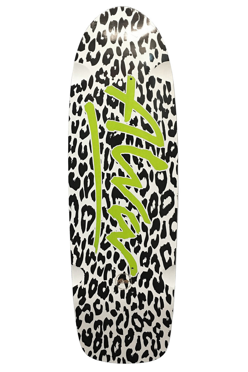 LEOPARD RE-ISSUE WHITE & BLACK WITH GREEN LOGO