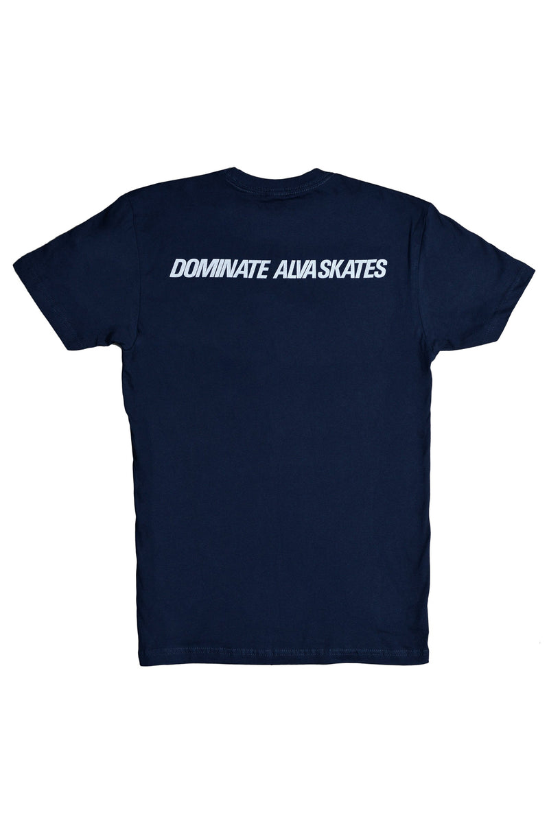 ALVA NAVY DOMINATE LOGO T-SHIRT