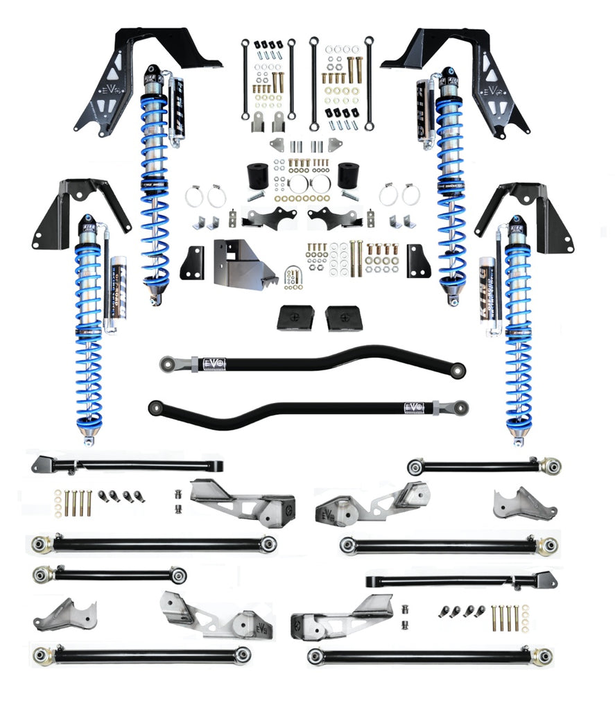 "ADJUSTABLE 3-5"" COILOVER PRO LONG ARM SUSPENSION SYSTEM FOR DIESEL JLU (4-Door)"
