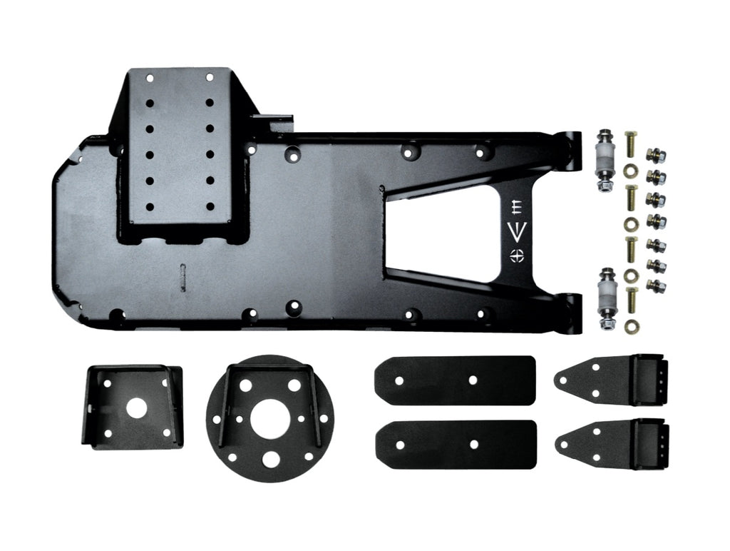 HINGED TIRE CARRIER, BLACK FOR JL
