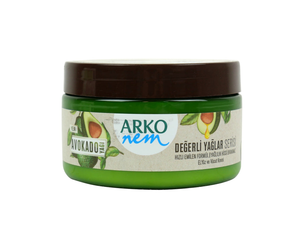 Arko Nem Pflegecreme - Avocado (250 ml)