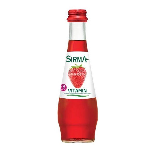 Sirma Vitamin B Strawberry Flavored Sparkling Mineral Water (6x250 ml)