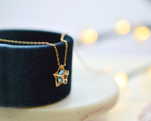 YOUR ARE MY STAR Blue Spinel Star Necklace