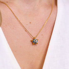 Load image into Gallery viewer, YOUR ARE MY STAR Blue Spinel Star Necklace