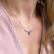 Load image into Gallery viewer, Angel's Wings Blue Topaz Necklace