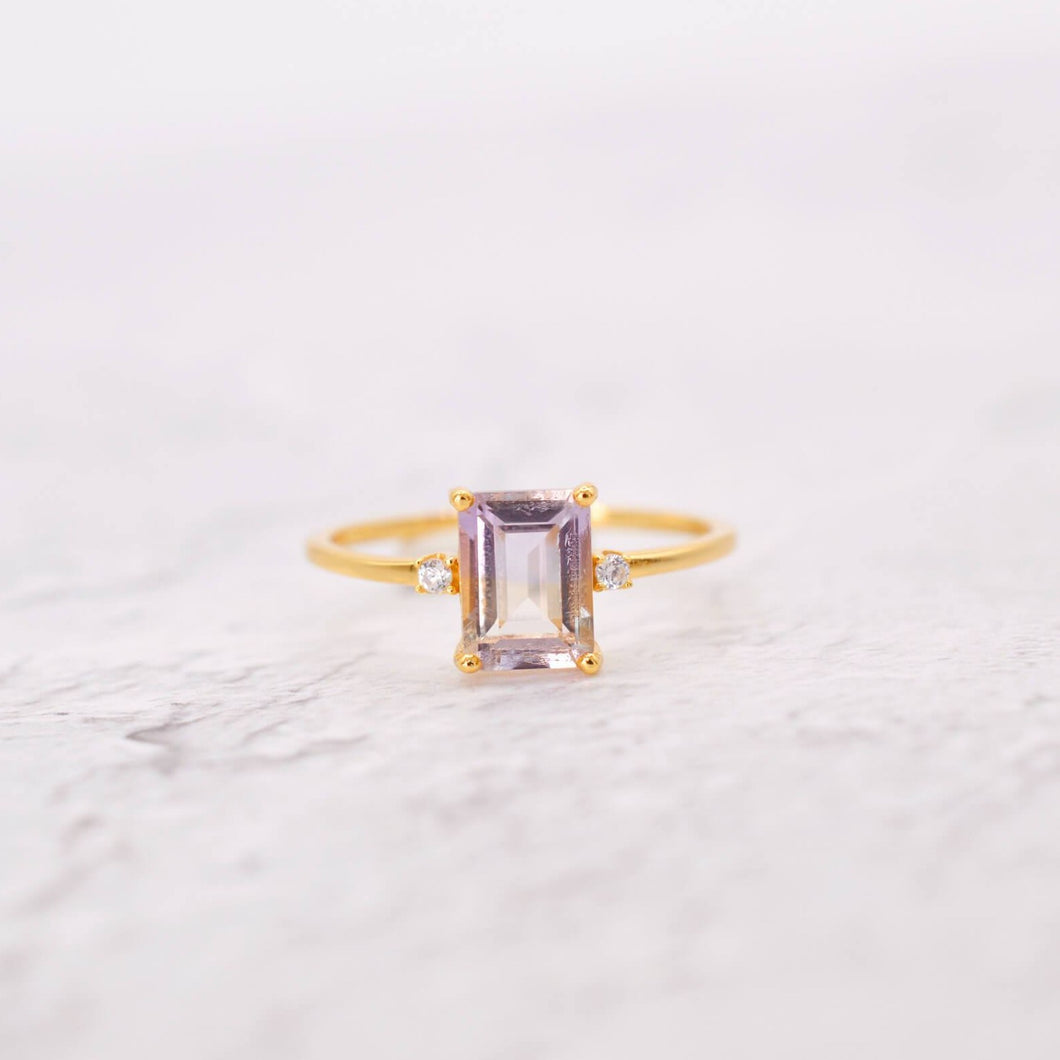 Natural Ametrine Trilogy Ring