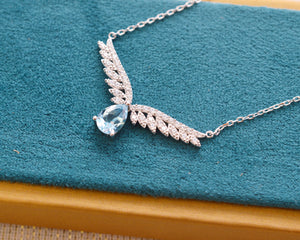Angel's Wings Blue Topaz Necklace