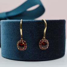 Load image into Gallery viewer, DEVOTION Garnet and Ruby Earrings