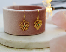 Load image into Gallery viewer, Vintage Lace Heart Earrings