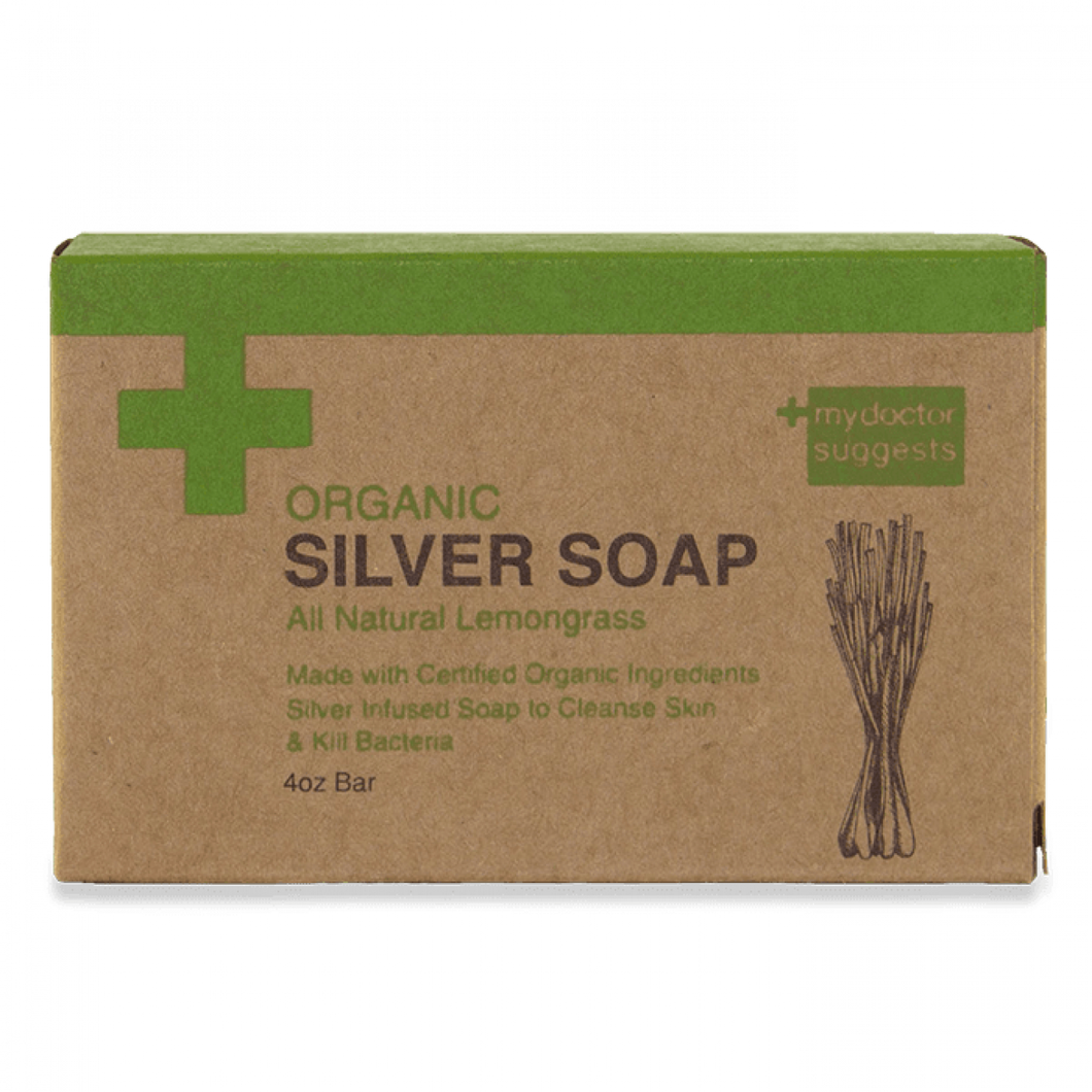 Silver Soap, Organic Lemongrass - Alkaline Structured Silver Solution