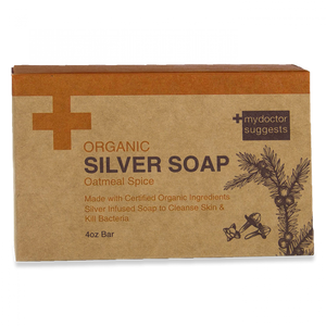 Silver Soap, Organic Oatmeal Spice - Alkaline Structured Silver Solution