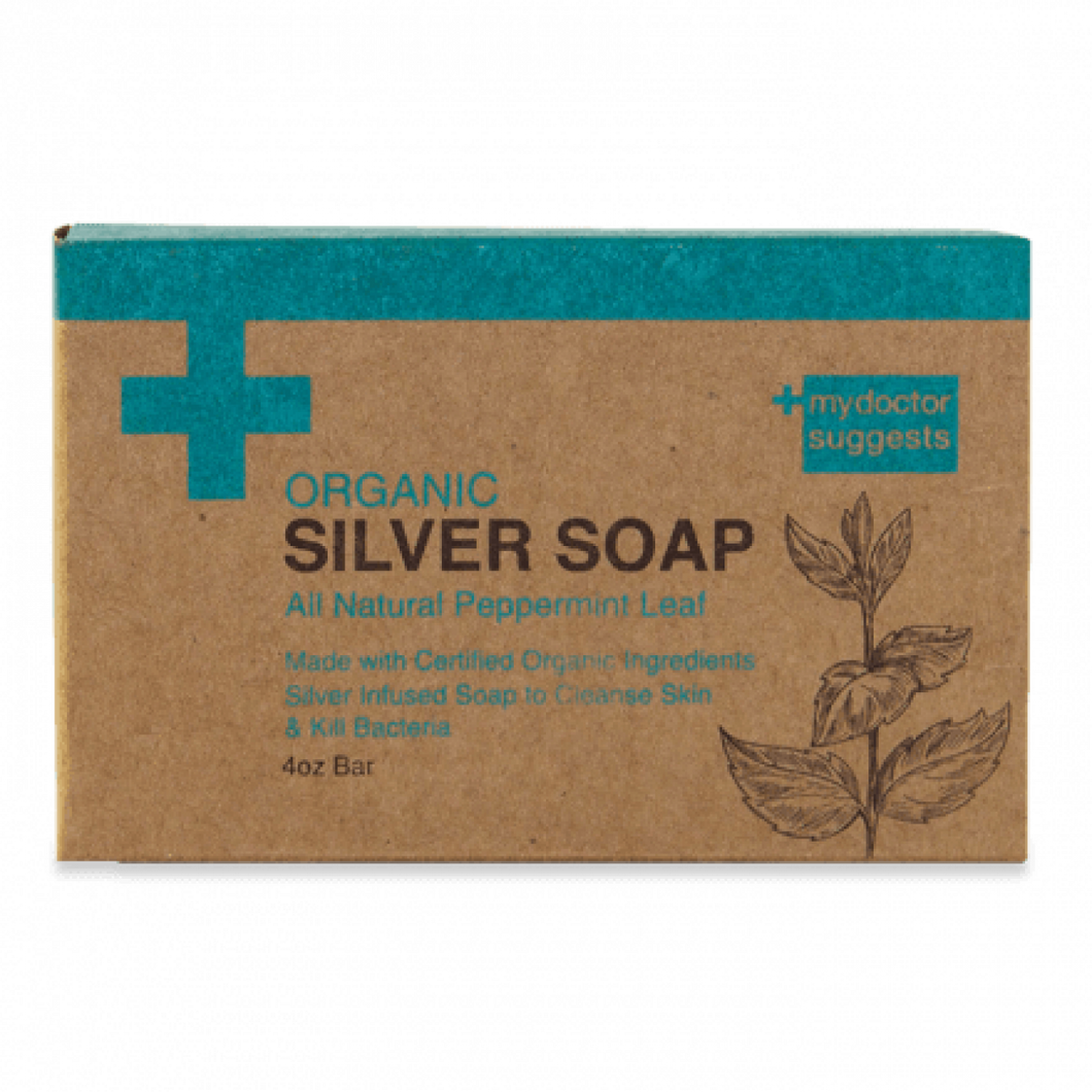 Silver Soap, Organic Peppermint - Alkaline Structured Silver Solution