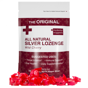 Silver Lozenges, Wild Cherry, 20 Count - Alkaline Structured Silver Solution