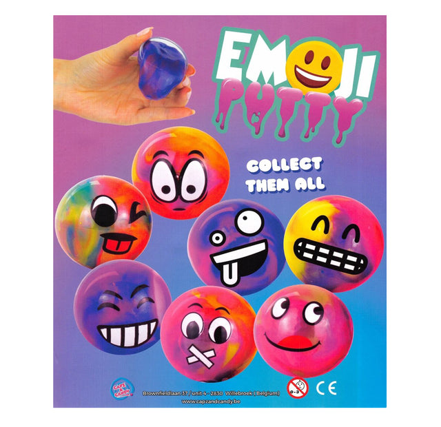 Emoji Putty (x300) 50mm Vending Prize Capsules