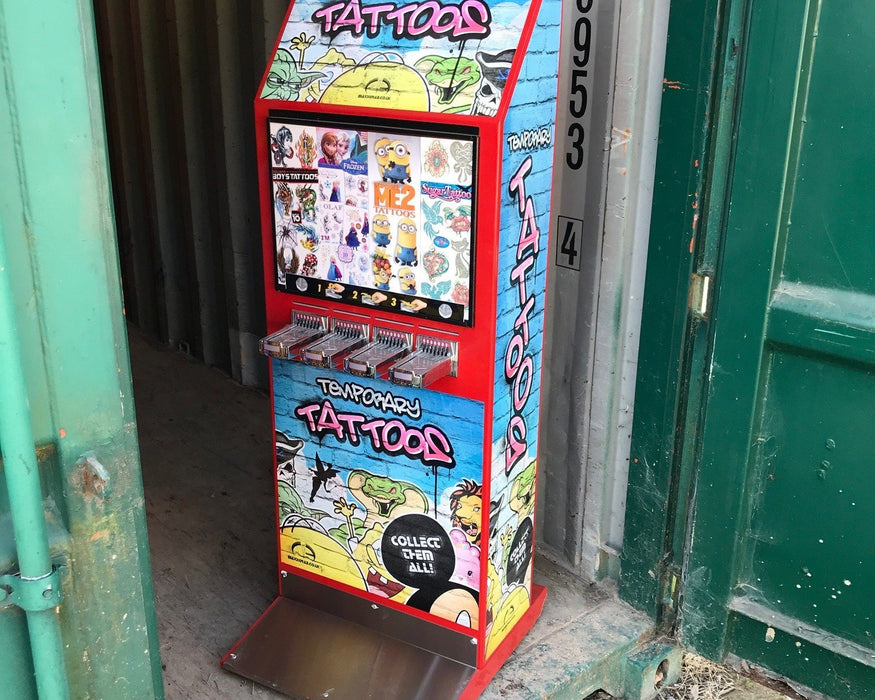 Used Instance Flat Pack Tattoo Vending Machine - Good Condition