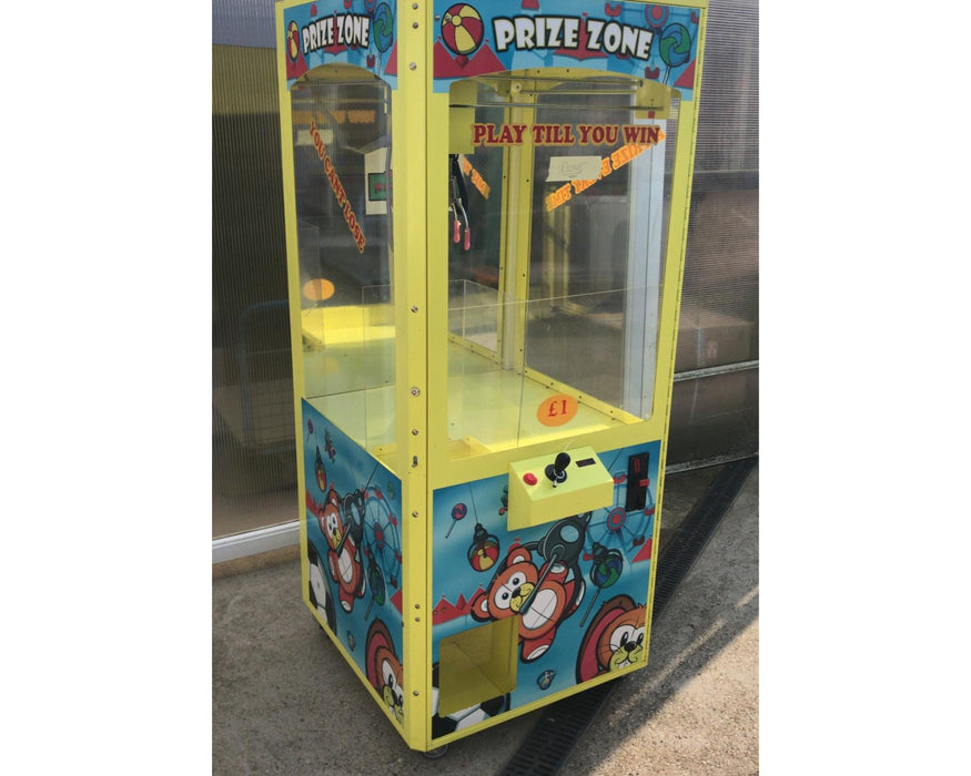 Used Prize Zone Prize Every Time Crane Grabber Machine - Good Condition