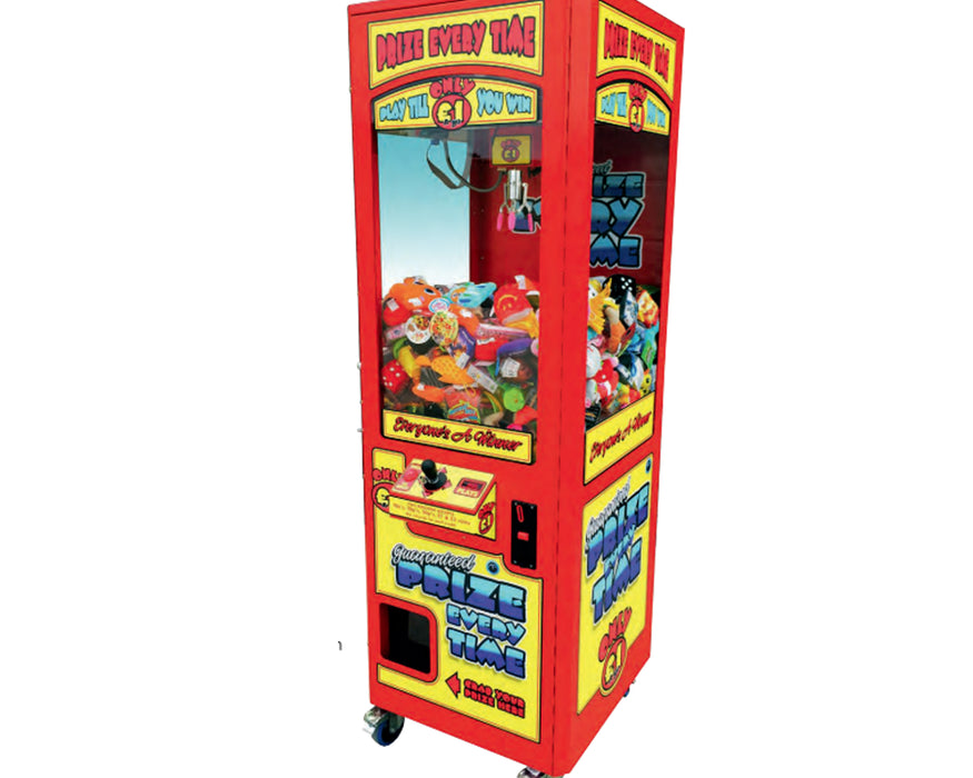 Red Prize Every Time - Crane Grabber Machine