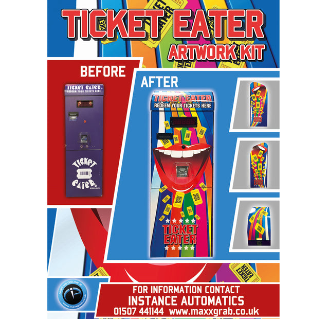 Namco Deltronic Ticket Eater Upgrade Artwork Kit