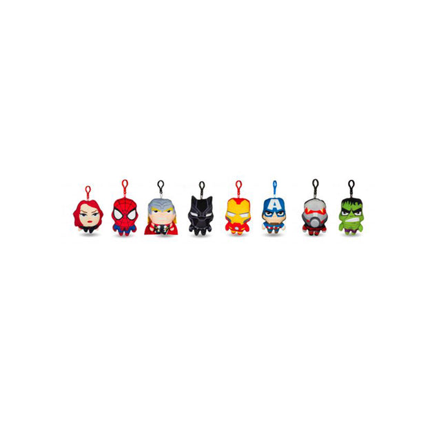"Marvel Avengers Bag Clips - 5"" / Size 1 - Assorted Licensed Prize Plush Toy (x200)"