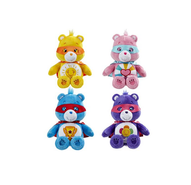"Care Bear Super Hero  - 6"" / Size 1 - Assorted Licensed Prize Plush Toy (x6)"