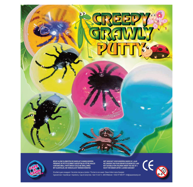 Creepy Crawly Putty (x300) 50mm Vending Prize Capsules