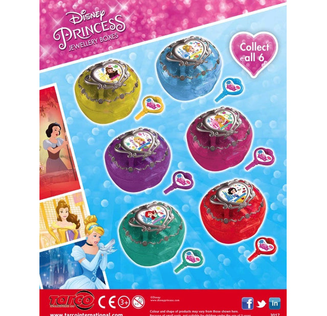 Disney Princess Jewellery Boxes (x600) 50mm Vending Prize Capsules