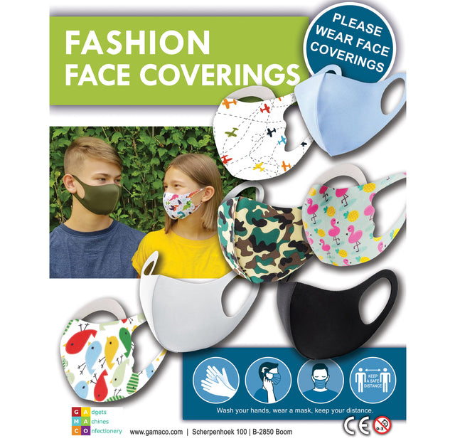 Kids Fashion Face Covering (x500) 50mm Vending Prize Capsules