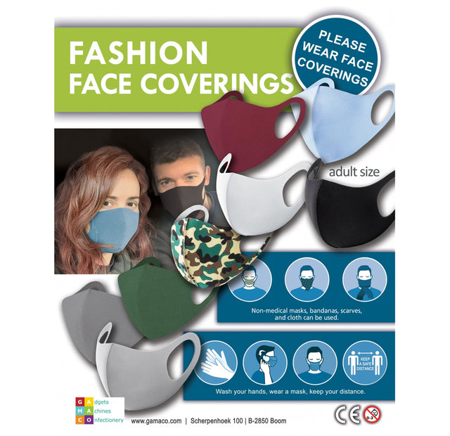 Adult Fashion Face Covering (x500) 50mm Vending Prize Capsules