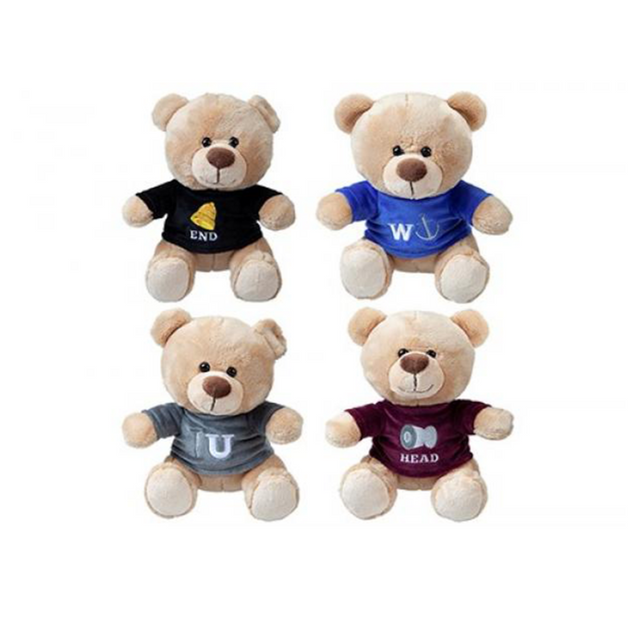 "Rude Bears  - 12"" / Size 3 - Assorted Licensed Prize Plush Toy (x24)"