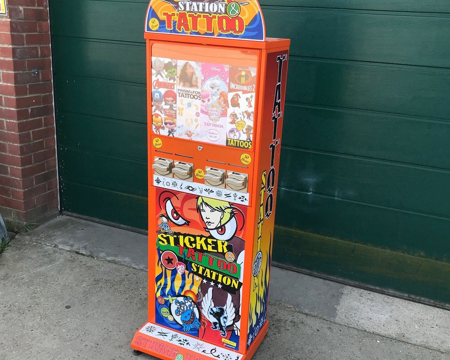 Used Flat Pack Tattoo Vending Machine - Good Condition