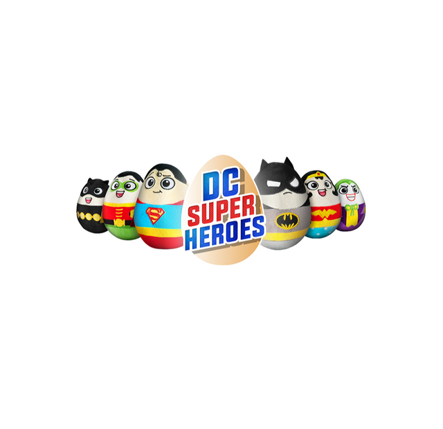 "DC Super Hero Baby Eggs - 6"" / Size 1 - Assorted Licensed Prize Plush Toy (x120)"