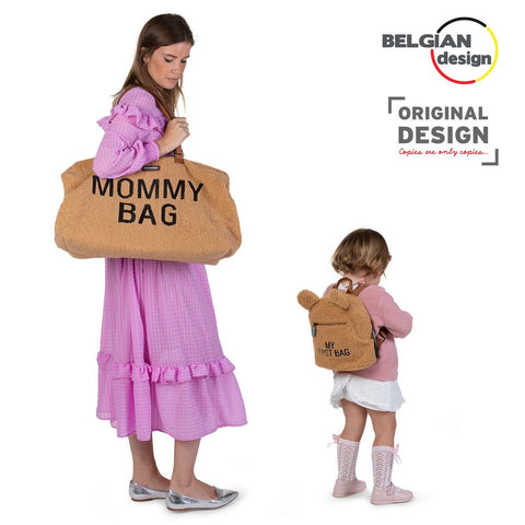 Childhome  Mommy Bag Borsa Fasciatoio - 55 x 30 x 40 cm - Teddy Beige - Include