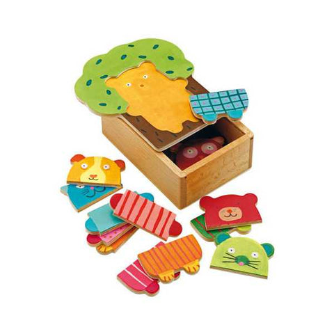 WOODEN PUZZLES - Arbra doudou - Cuddly Tree puzzle