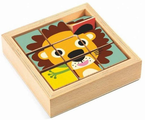 9 wooden blocks puzzle - Tournanimo