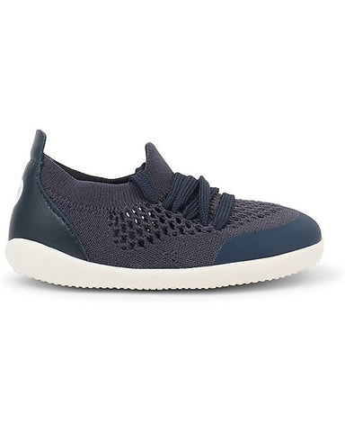 BOBUX-Scarpina Step-Up Play Knit - Blu Navy - Morbido Tessuto Elastico!