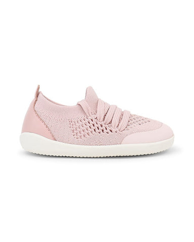 BOBUX-Scarpina Step-Up Play Knit - Rosa Conchiglia - Morbido Tessuto Elastico!