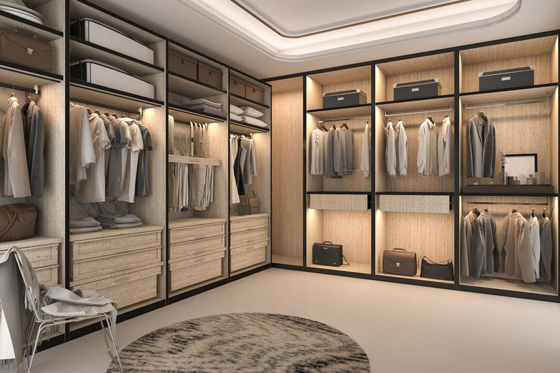 Walk in closet design and installation