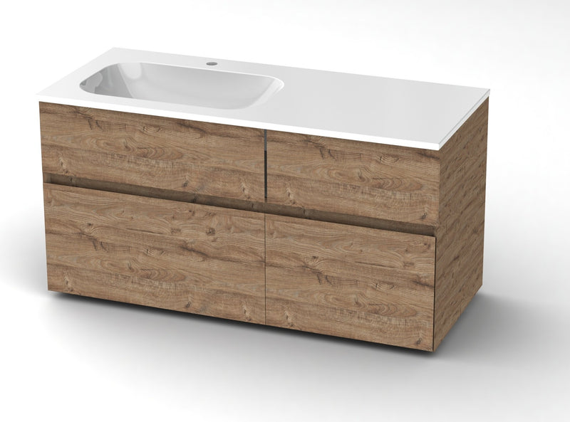 Bathroom vanities with single sink 120 cm - Grittel