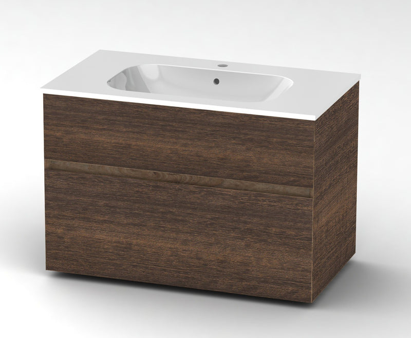 Bathroom vanity with integrated sink 90 cm - Grittel