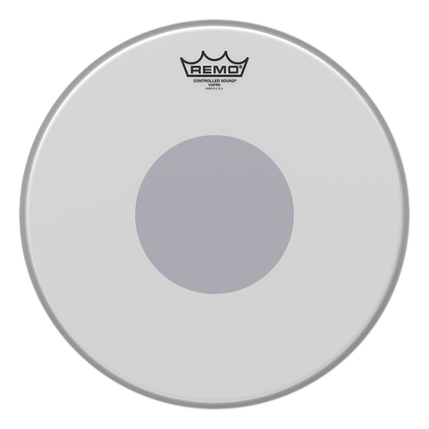 "Remo 14"" Controlled Sound White Dot"