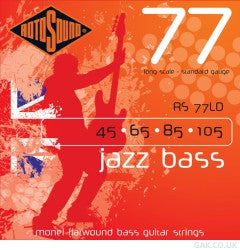 RS77LD Flat Wound Jazz Bass Strings