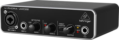 U-Phoria UMc22 audio interface with Mic Pre amplifier