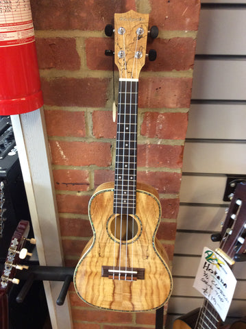 Blackwater concert spalted maple electro ukulele