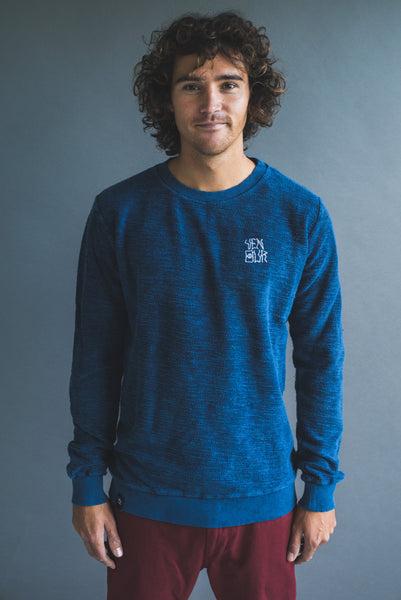 Monster Terry Text Sweater Navy